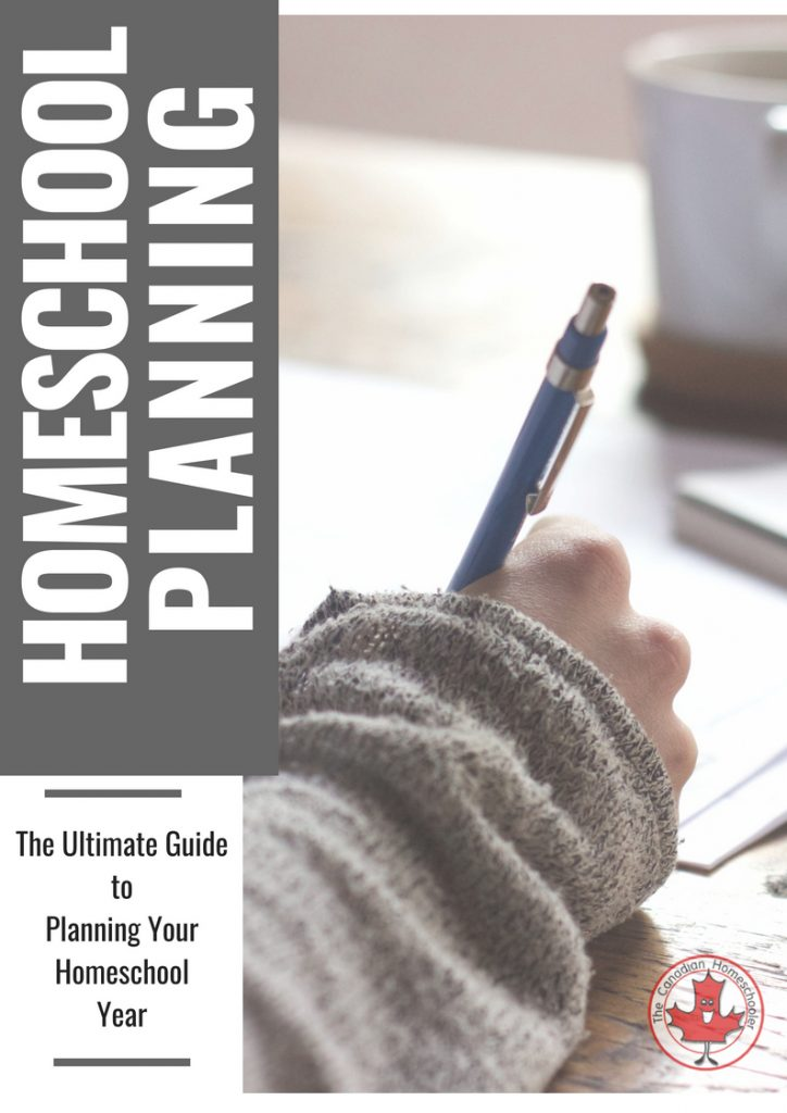 The Ultimate Guide to Homeschool Planning text with a person's hand holding a pen