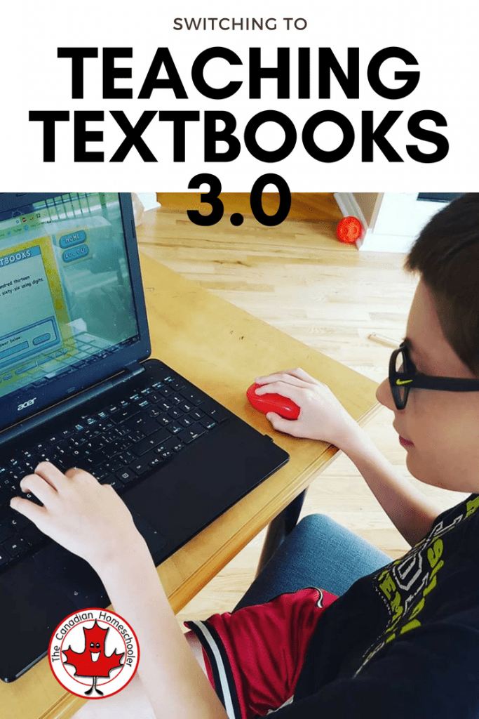 Switching to Teaching Textbooks 3.0 Math Curriculum