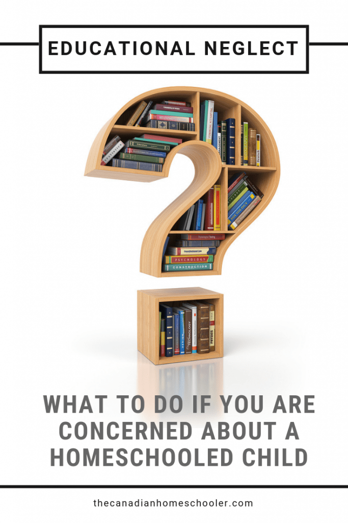 Educational Neglect: What To Do If You Have Concerns About A Homeschool Child - Question Mark Bookshelf