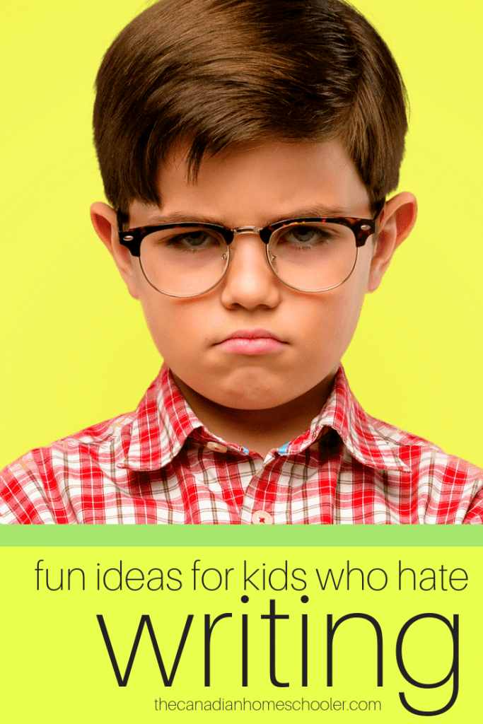 Annoyed Child: Fun Ideas For Kids Who Hate Writing