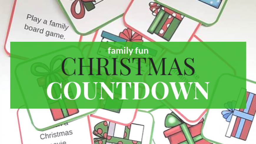 picture relating to Christmas Countdown Printable named A Loved ones-Entertaining Xmas Countdown Printable
