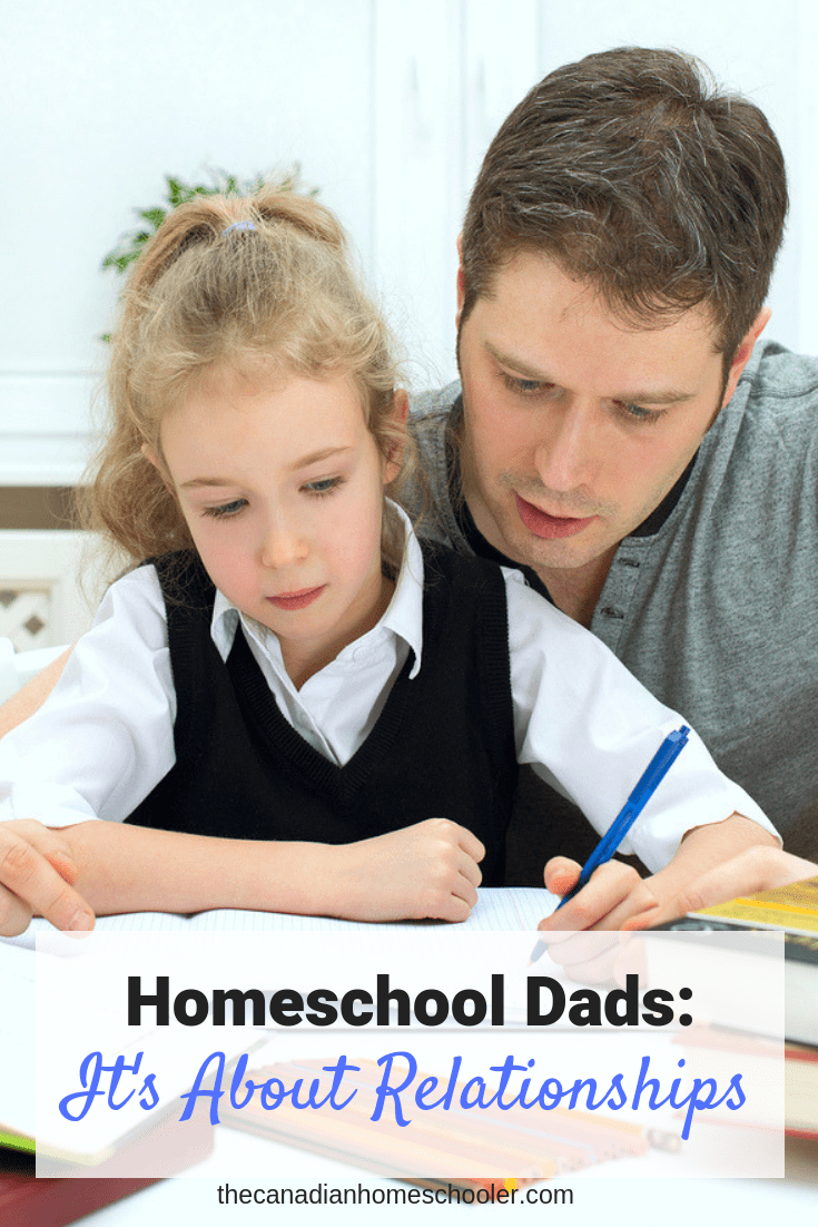 Homeschool Dads: Dad Helping Daughter With SchoolWork