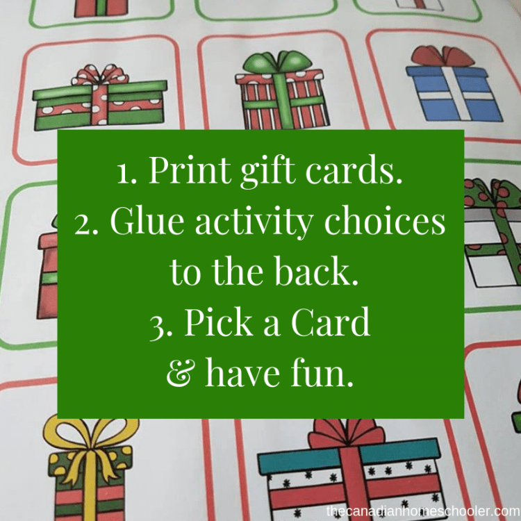 How to Use Christmas Countdown printable.
