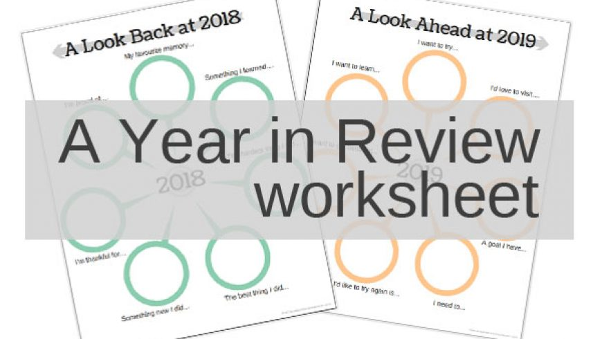 Year In Review & New Year Worksheets