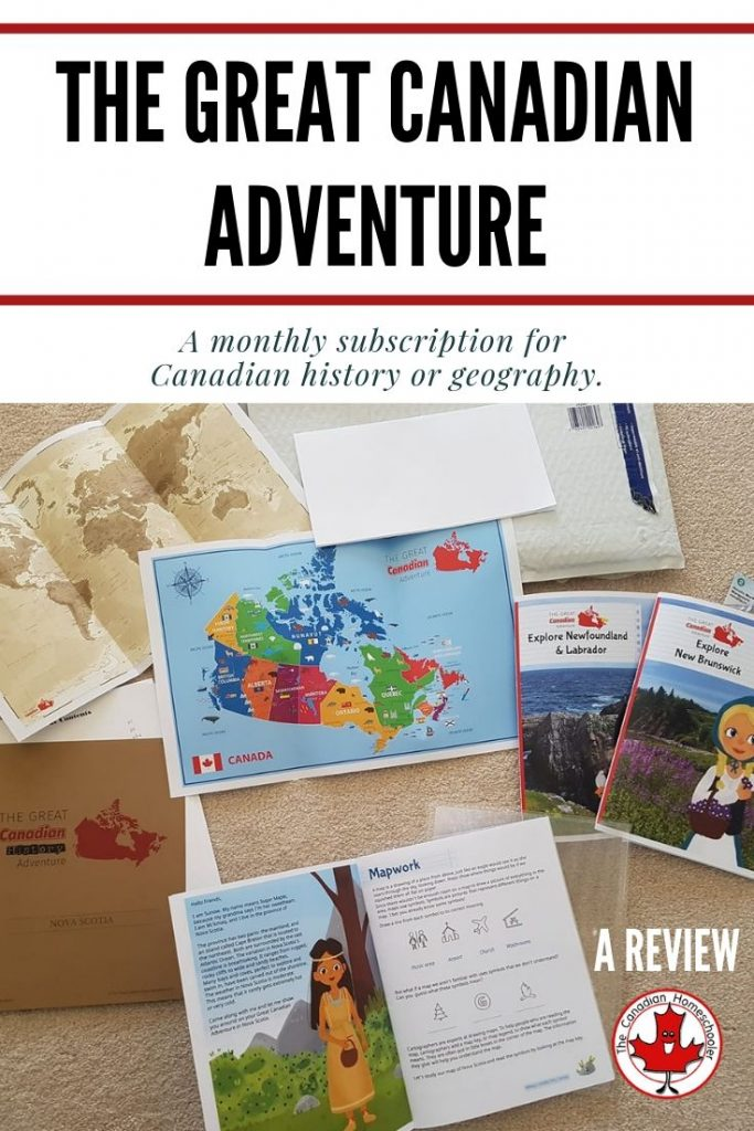 The Great Canadian Adventure: A monthly subscription program for Canadian history and geography