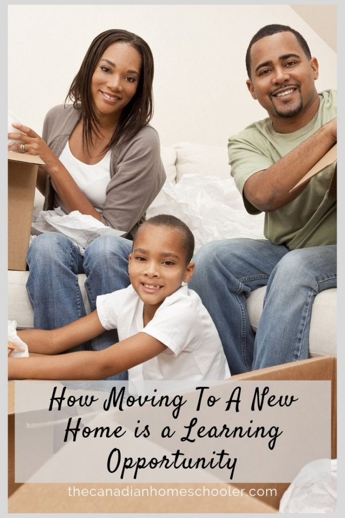 Family Unpacking Boxes: How moving to a new home is a learning opportunity.