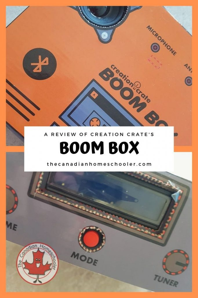Creation Create BoomBox Review by The Canadian Homeschooler